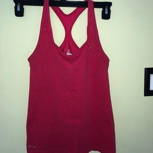 2/$15 Nike Dri-fit  tank pink small